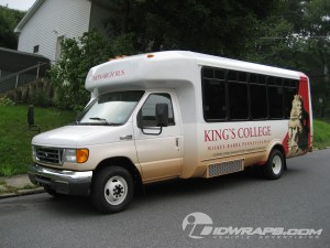 Bus Wrap for Kings College