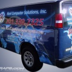 Real Computer Solutions Computer IT Service Chevy Express Van Wrap Graphics 3M Baltimore Annapolis