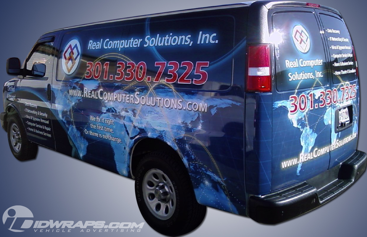 Real Computer Solutions Chevy Express Van Wrap