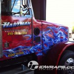 Hartman Excavating Divistion Doylestown PA Landscape 3M Tractor Truck Wrap Vehicle Flames