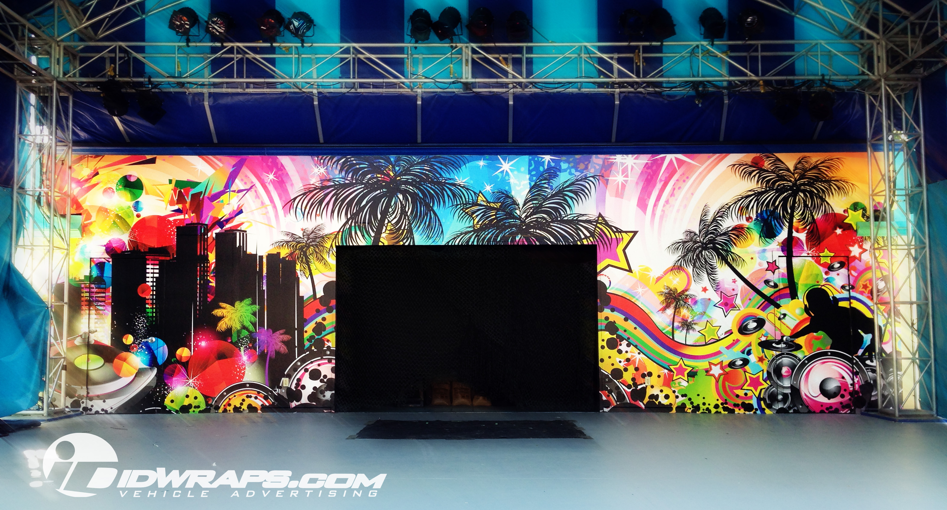 Dorney Park 2013 Summer Main Stage Wall Mural Drywall Wrap IDWraps