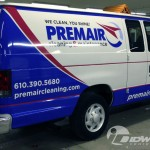 Premair Ford E250 Cargo Van Partial Wrap and Lettering PA NJ IDWraps