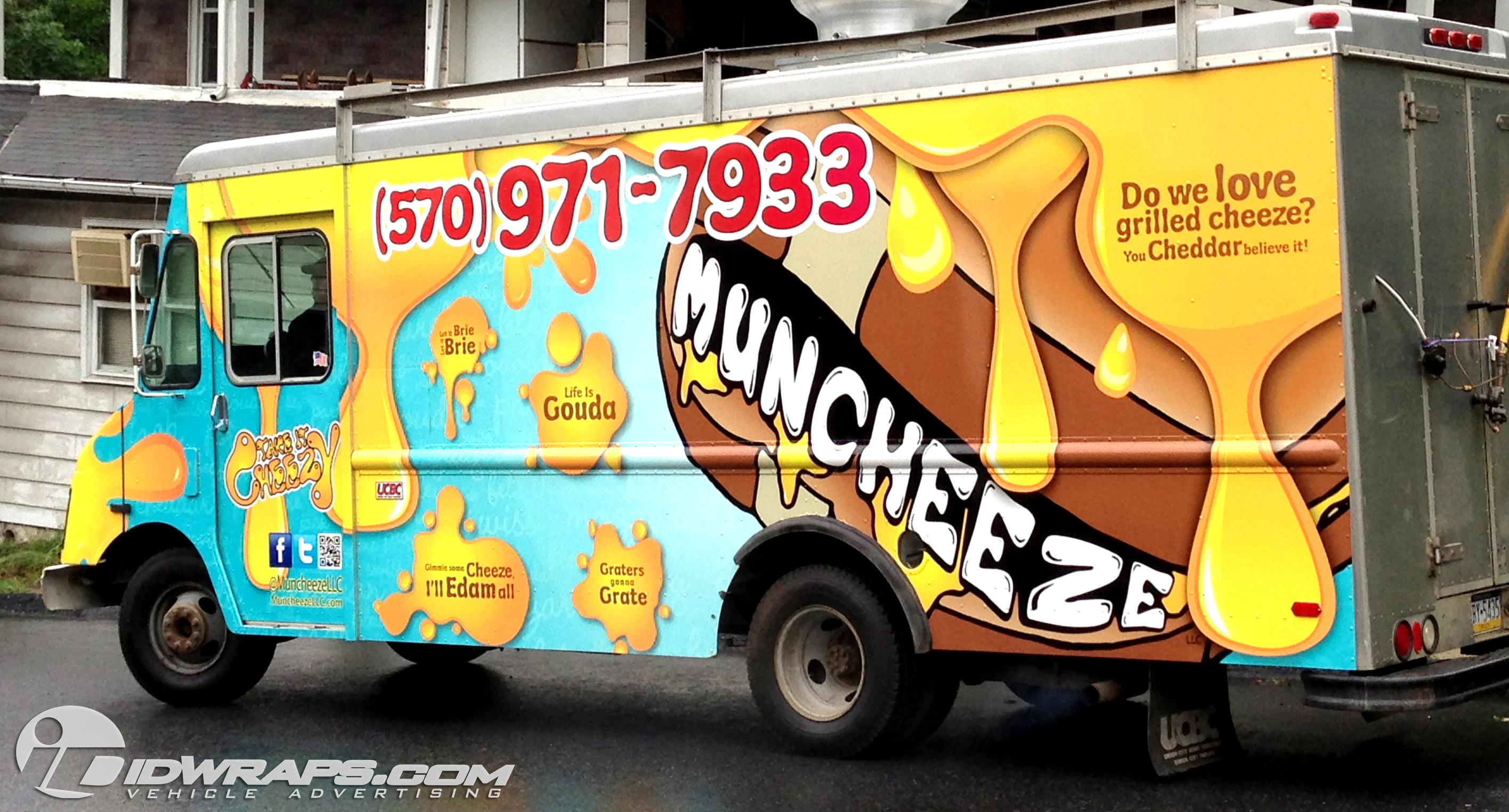 Muncheese Food Truck Wrap