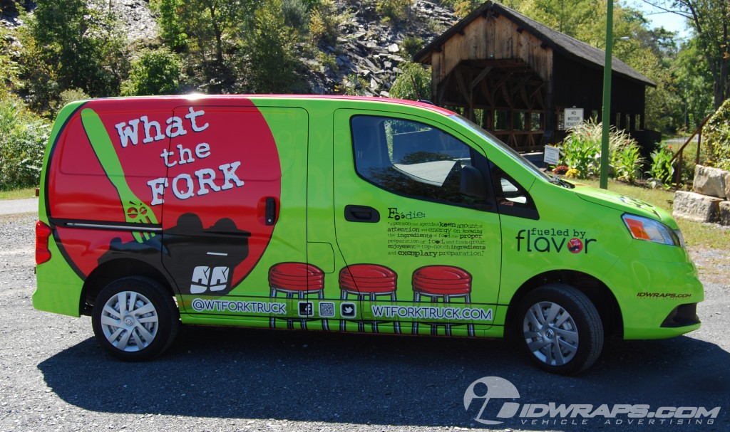 What the Fork Lil Forker Nissan NV200 3M Vinyl Wrap Concession Delivery What the Fork
