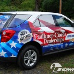 Faulkner-Ciocca Chevy Equinox 3M Vinyl SUV Vehicle Wrap Car Dealer Courtesy