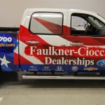 Parts Delivery Chevy Silverado Faulkner-Ciocca 3M Vinyl Pickup Truck Wrap Advertising Quakertown