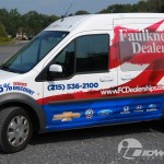 Delivery Van Faulkner-Ciocca Ford Transit Connect 3M Vinyl Wrap Advertising Allentown