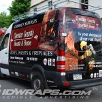 Chester County Hearth and Home Mercedes Sprinter Van 3M Vinyl Wrap Partial