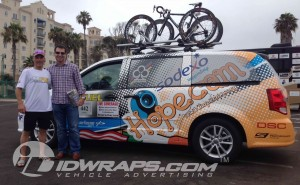 Hopecam Dodge Caravan Car Advertising Wrap for Race Across America 3M Vinyl Minivan Wrap Baltimore
