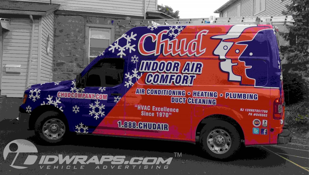 HVAC Nissan NV Wrapping 3M Vinyl Graphic