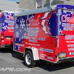 Chud HVAC 12ft Cargo Trailer  3M Vinyl Wrap R2