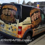 Three Guys and a Beerd Transit Connect 3M Vinyl Wrap PA