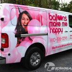 Pink Nissan NV van 3M vinyl vehicle wrap