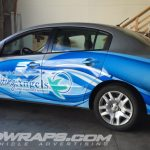 Visiting Angels Honolulu blue partial 3m vinyl vehicle wrap