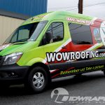 WOW Roofing Mercedes Sprinter Green 3M Vinyl Vehicle Wrap