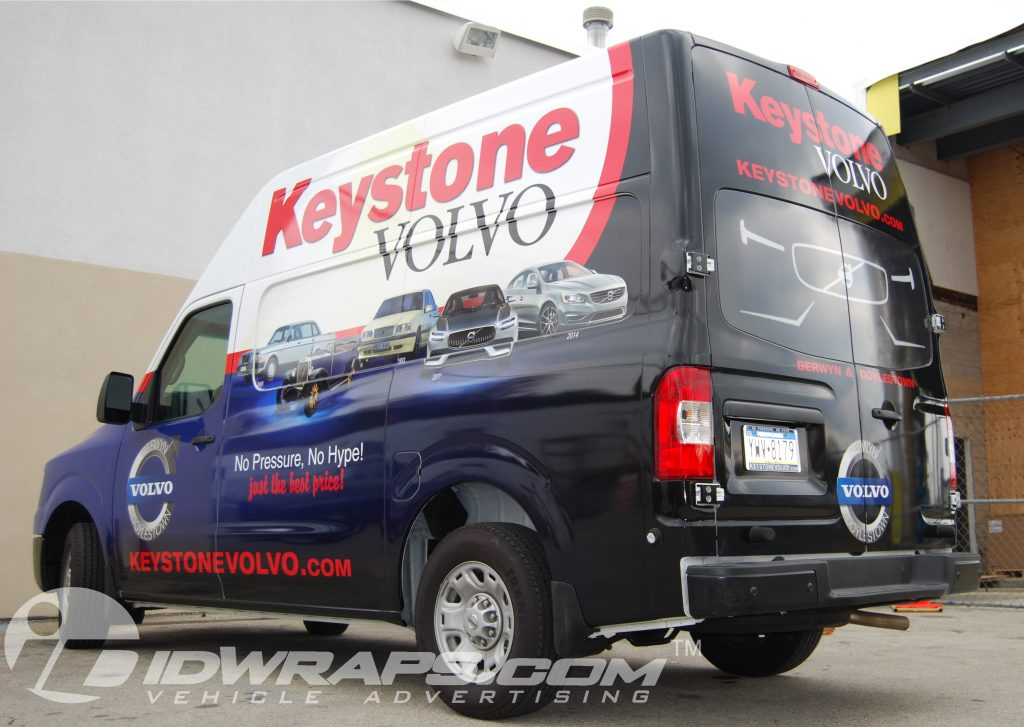 Keystone Volvo Nissan NV Car Dealer Parts Van 3M Wrap