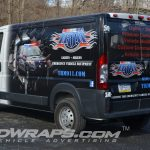 TRM Emergency 2015 Dodge Promaster 3-4 3M Partial Vinyl Van Wrap