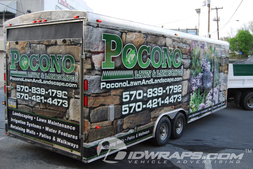 Pocono Lawn and Landscape gets a Landscaping Trailer Wrap