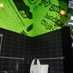 What the Fork Wilkes Barre Restaurant 3M Vinyl Restroom Wall Wrap Green