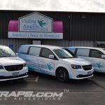 Visiting Angels of Central Wisconsin Dodge Caravan Ram CV 3M Vinyl Fleet Wrap