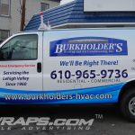 Burkholders Chevy Express Partial 3M Vinyl Graphic Wrap