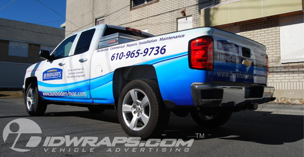 Truck lettering on a Chevy Silverado Partial 3M Vinyl Graphic Wrap