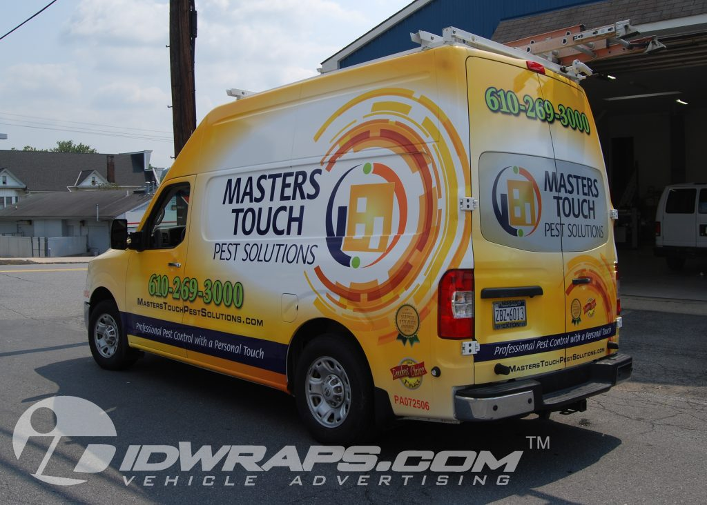 Masters Touch Pest Control Nissan NV High Top 3M Vinyl Graphic Wrap