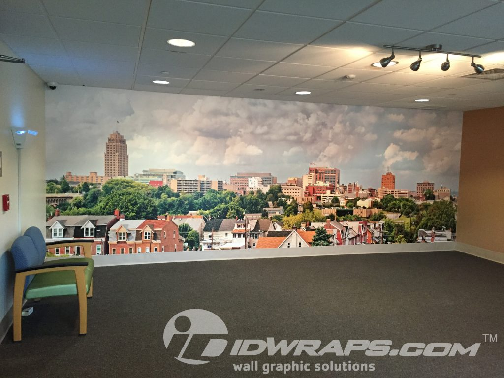 Saint Lukes Hospital Textile Wall Full Color Graphic Mural Wrap Allentown