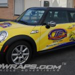 Mini Cooper 3M Vinyl Graphic Wrap for Trans Fleet Concrete