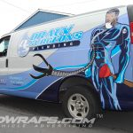 Plumber Graphics Wrap Drain Surgeons Chevy Express 3M Vinyl Graphics