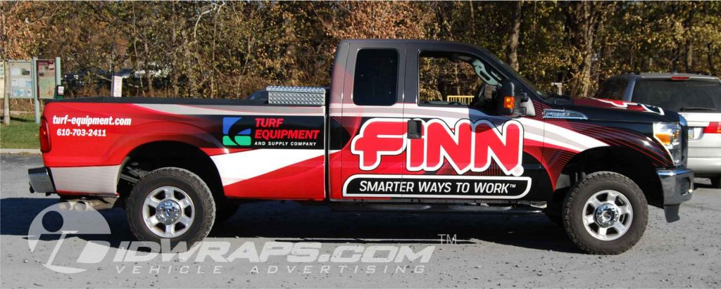 Features F250 Vinyl Wrapping for Turf Equipment