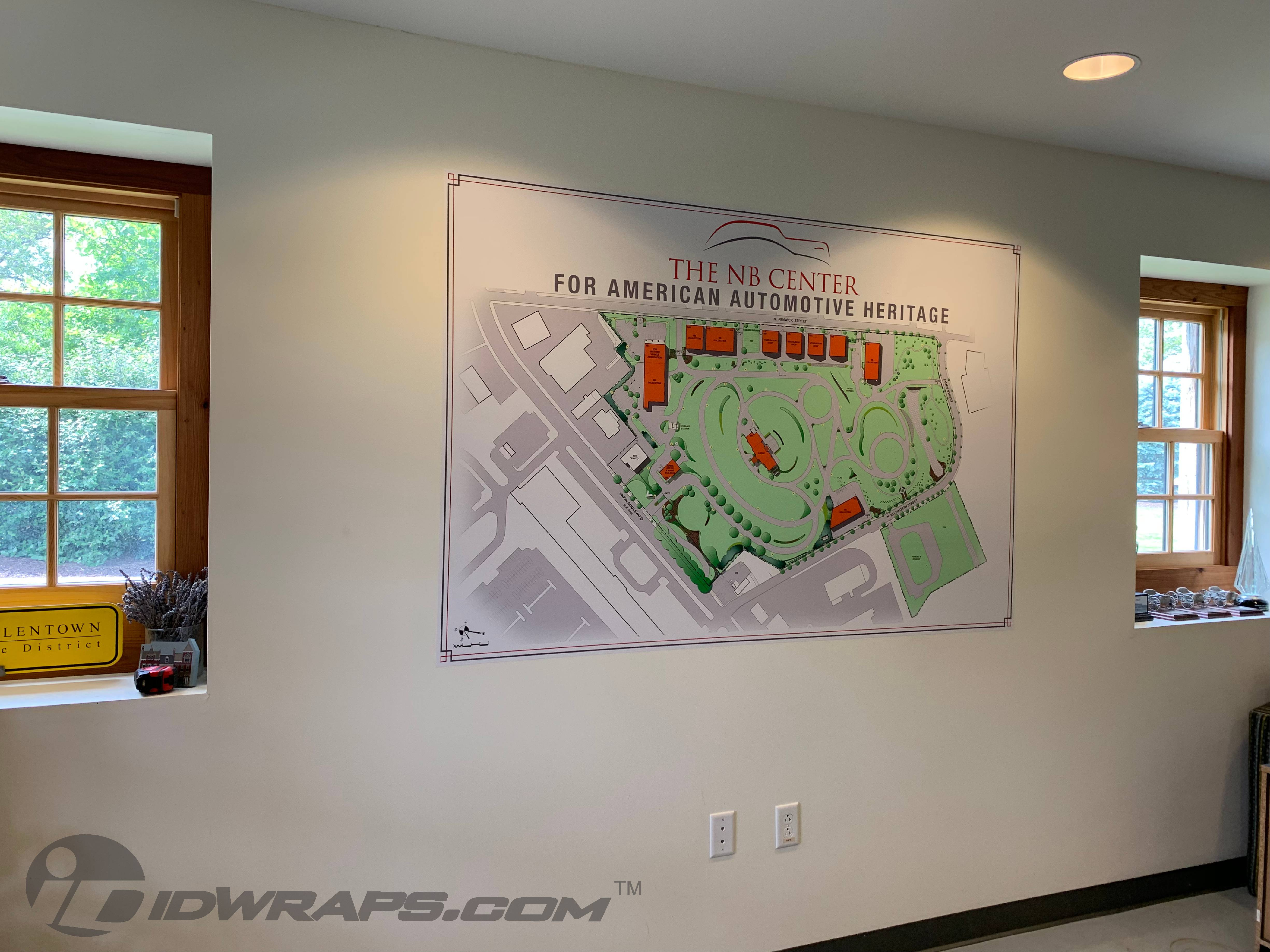 Wall Map Graphic for the NB Center