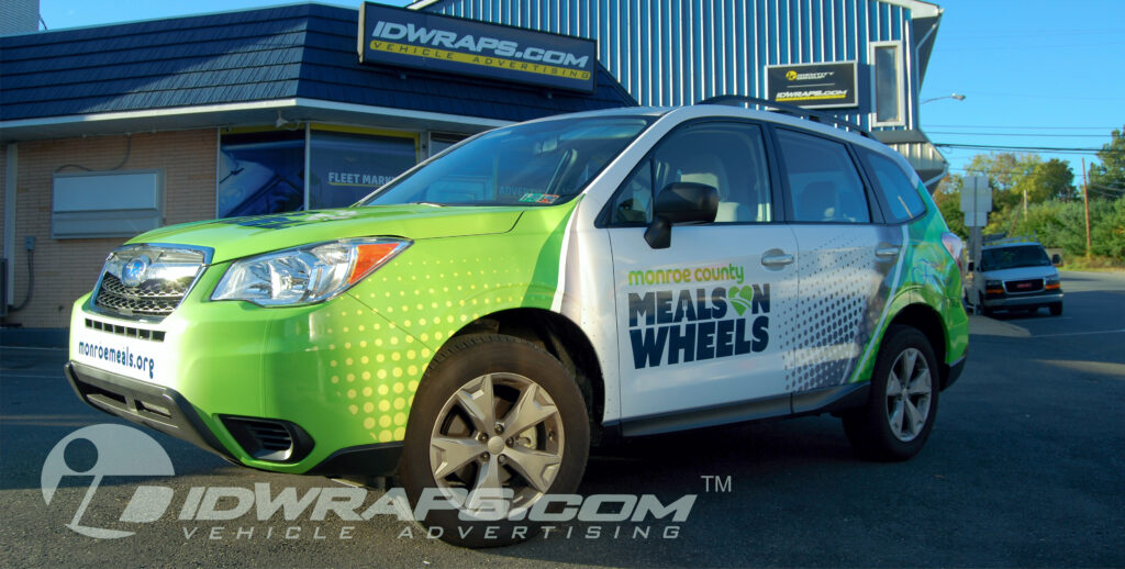 Meals on Wheels Subaru Wrap (St. Patty's Day Theme)
