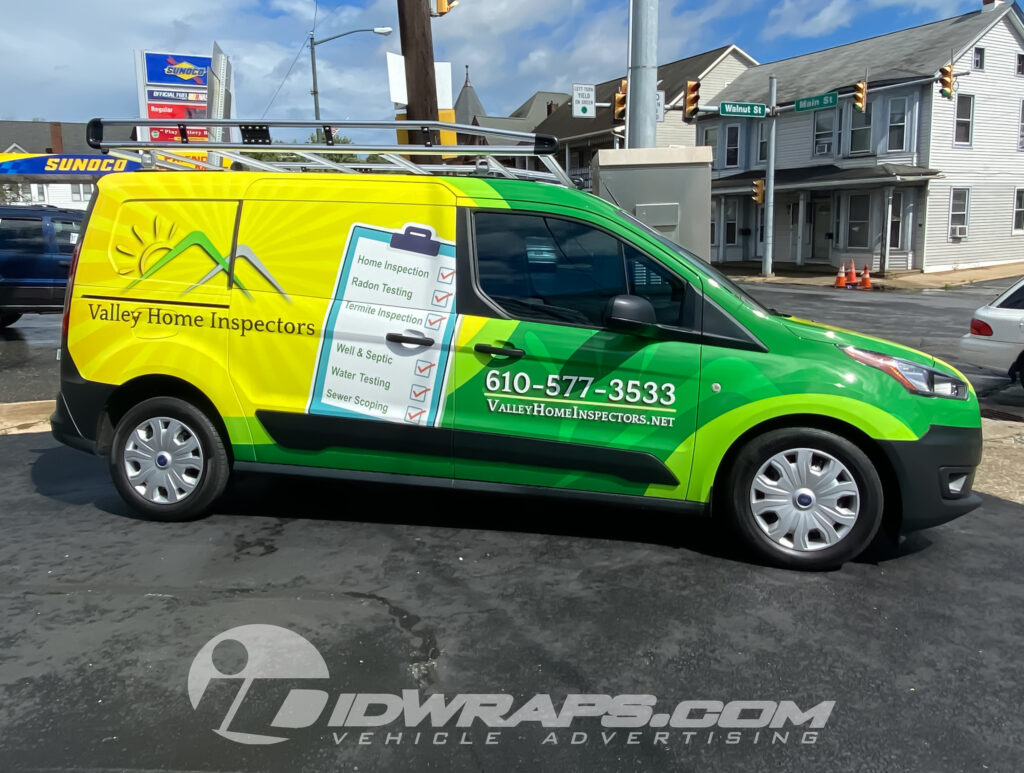 Valley Home Inspectors Cargo Van Wrap (St. Patty's Day Theme)