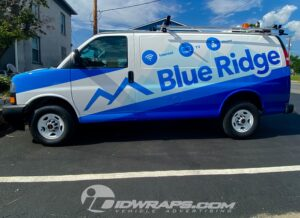 Blue Ridge Communications included a service list in a creative way by utilizing icons that relate to their main services.