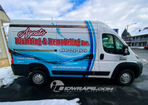Agosto Plumbing and Remodeling makes their services known right in the company name.