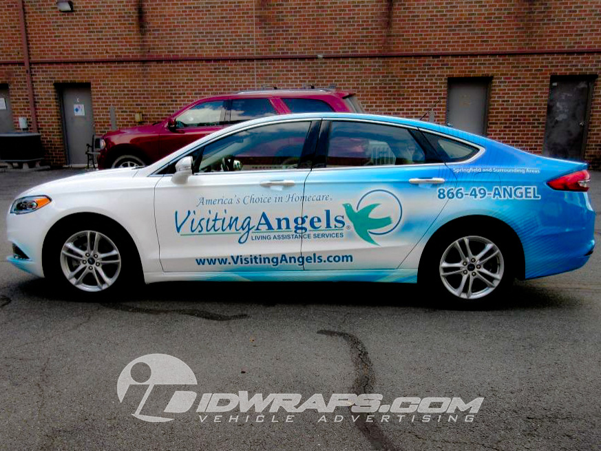 Visiting Angel's typographic logo is perfect for use on vehicle wraps